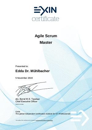 Agile Scrum Master Training vom 4. – 5.11.2019 bei tecTrain Graz
